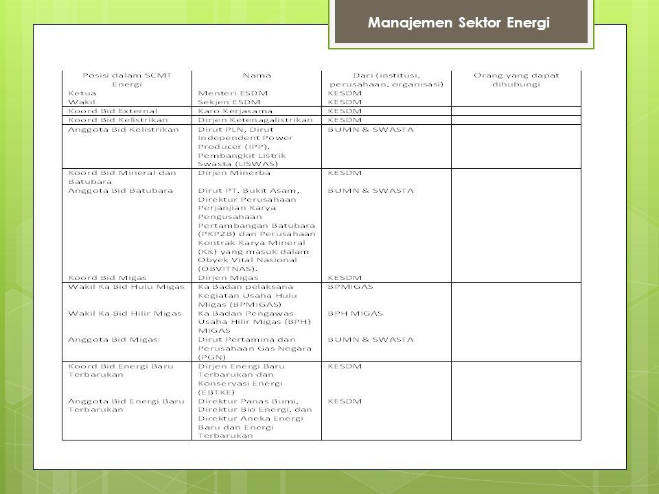 Manajemen Sektor Energi