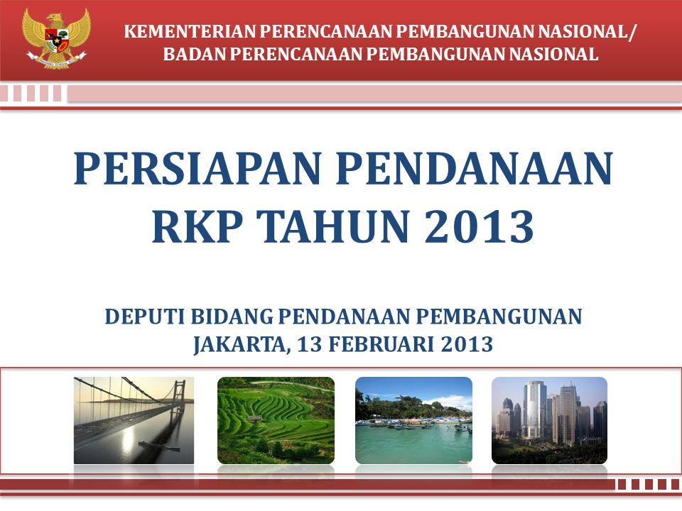 PERSIAPAN PENDANAAN RKP TAHUN 2013