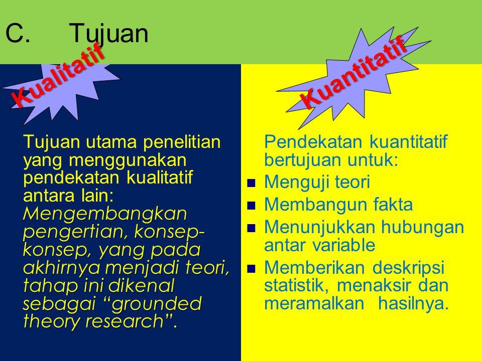 C. Tujuan Kuantitatif Kualitatif