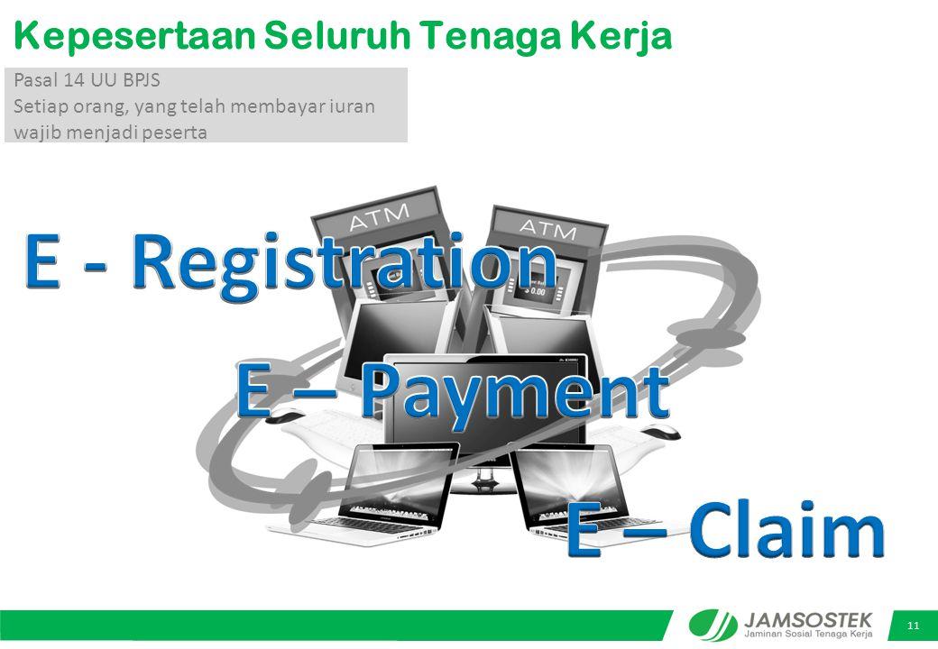 E - Registration E – Payment E – Claim