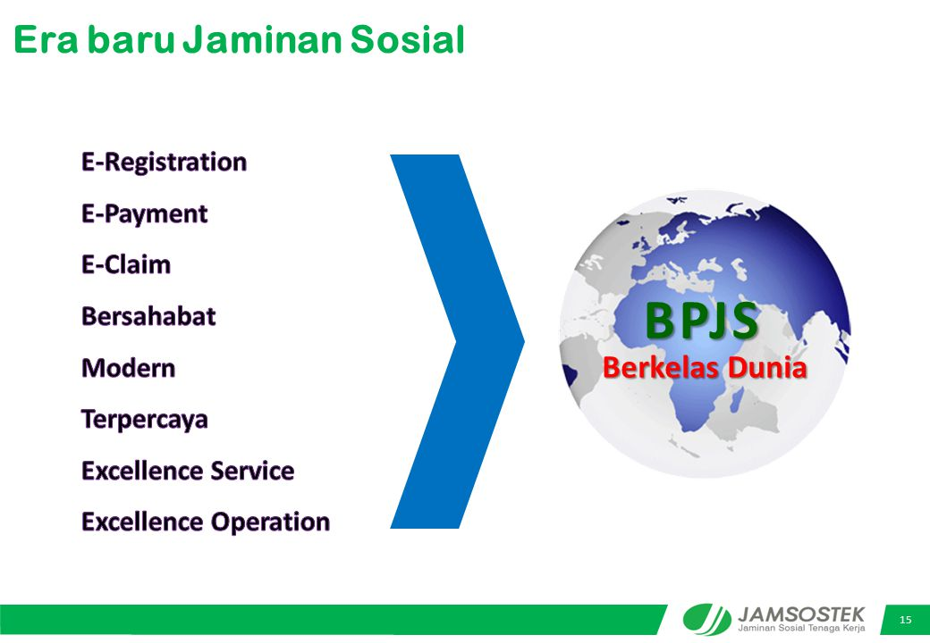 BPJS Era baru Jaminan Sosial Berkelas Dunia E-Registration E-Payment
