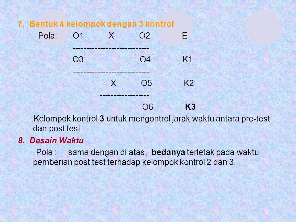 7. Bentuk 4 kelompok dengan 3 kontrol