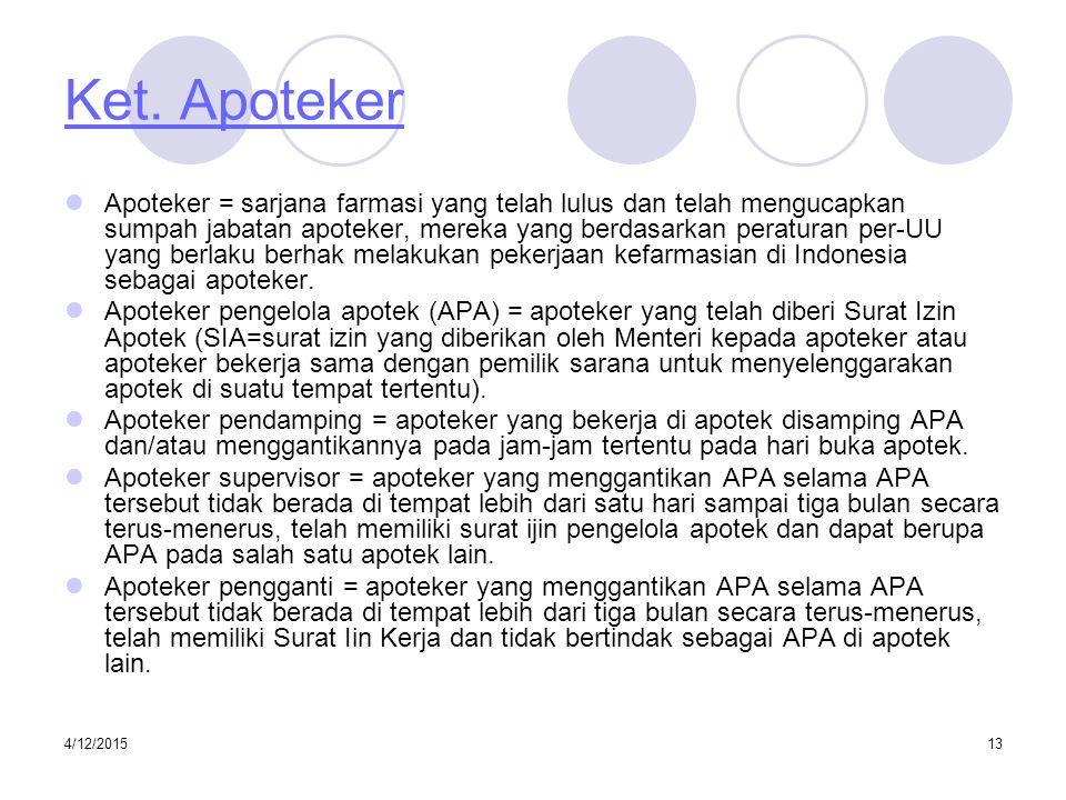 Ket. Apoteker