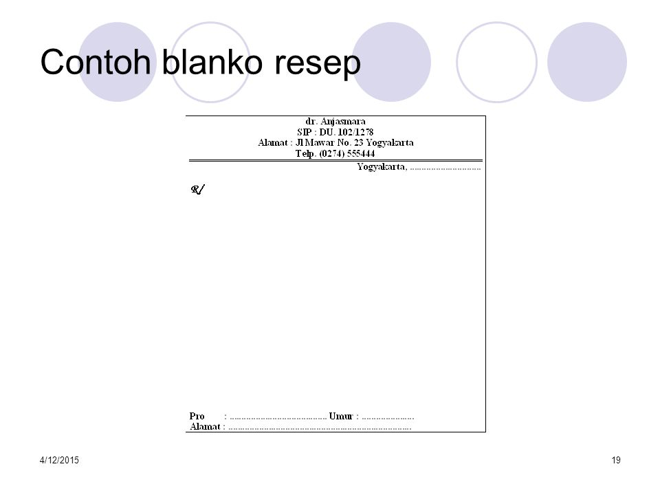 Contoh blanko resep 4/11/2017