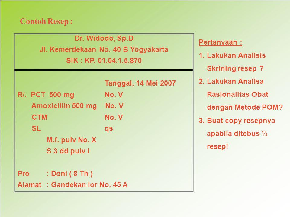 Jl. Kemerdekaan No. 40 B Yogyakarta