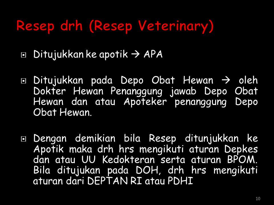 Resep drh (Resep Veterinary)