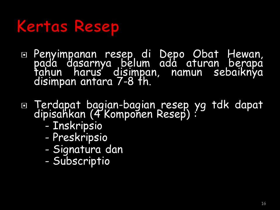 Kertas Resep