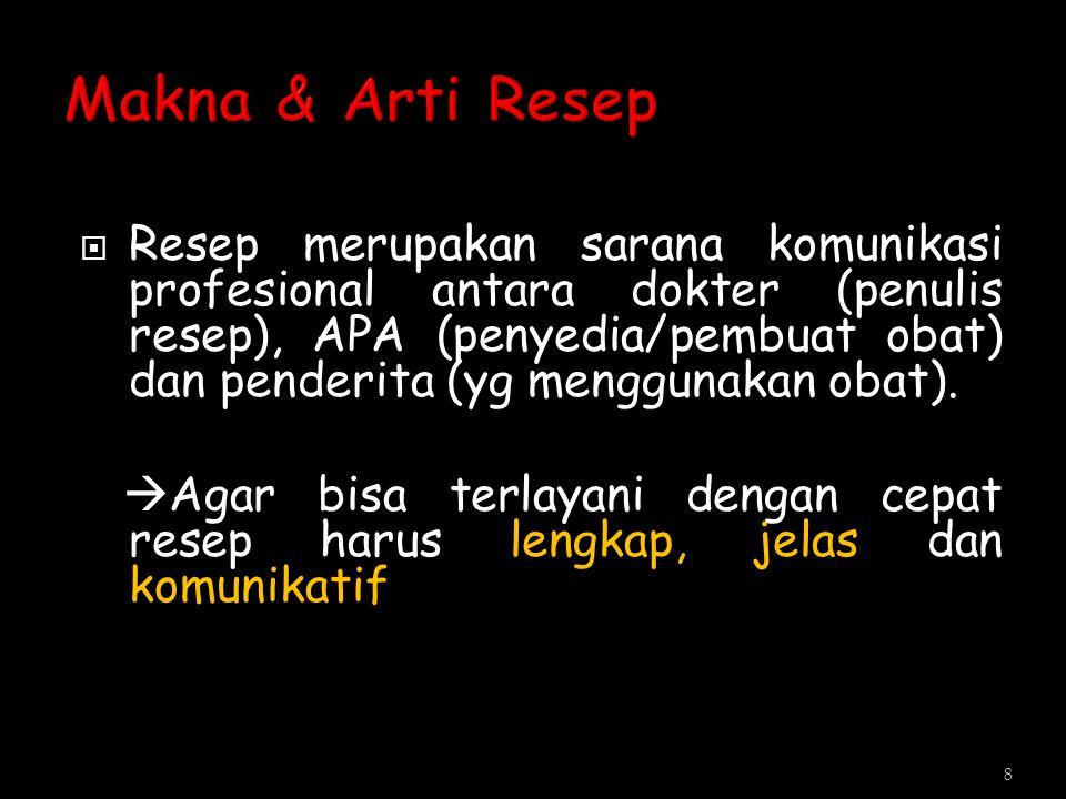 Makna & Arti Resep
