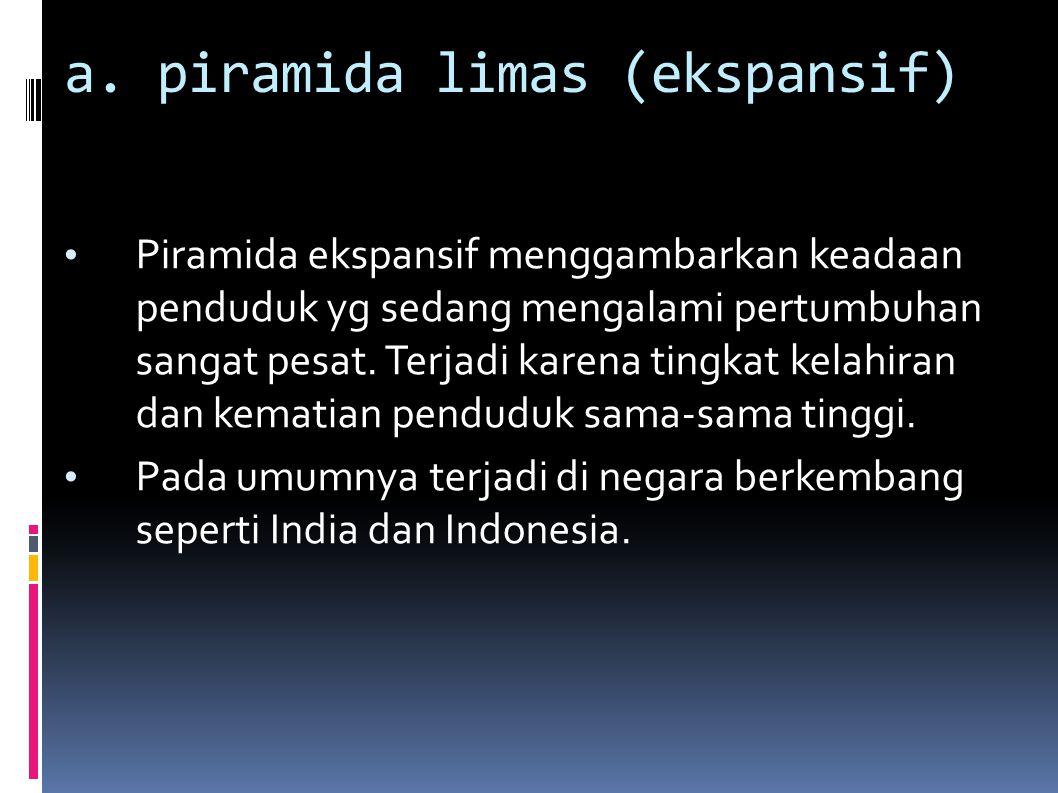 a. piramida limas (ekspansif)