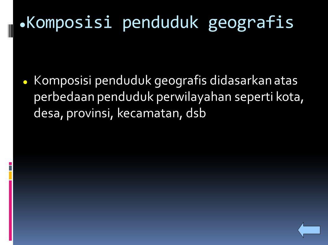 Komposisi penduduk geografis