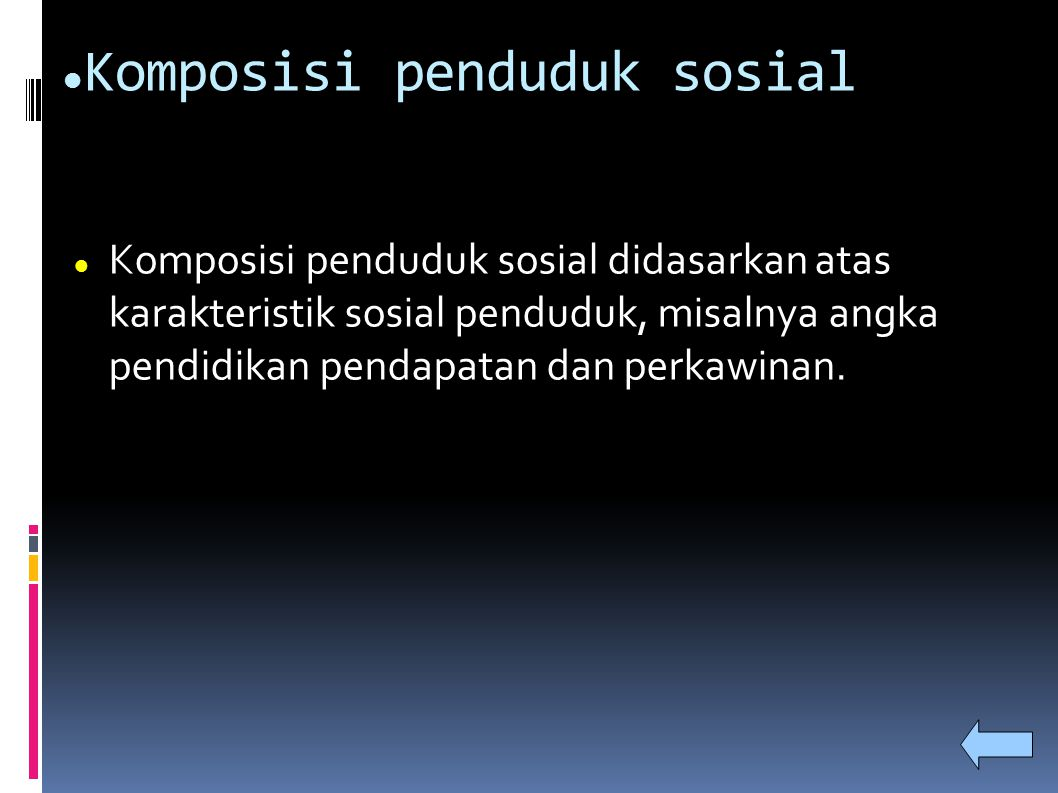 Komposisi penduduk sosial