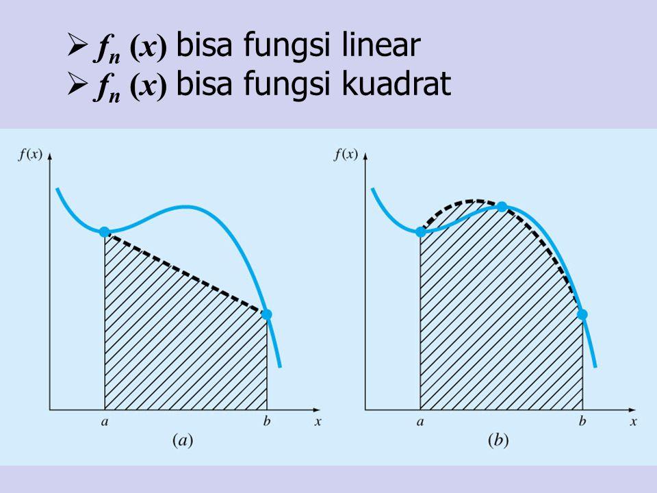fn (x) bisa fungsi linear
