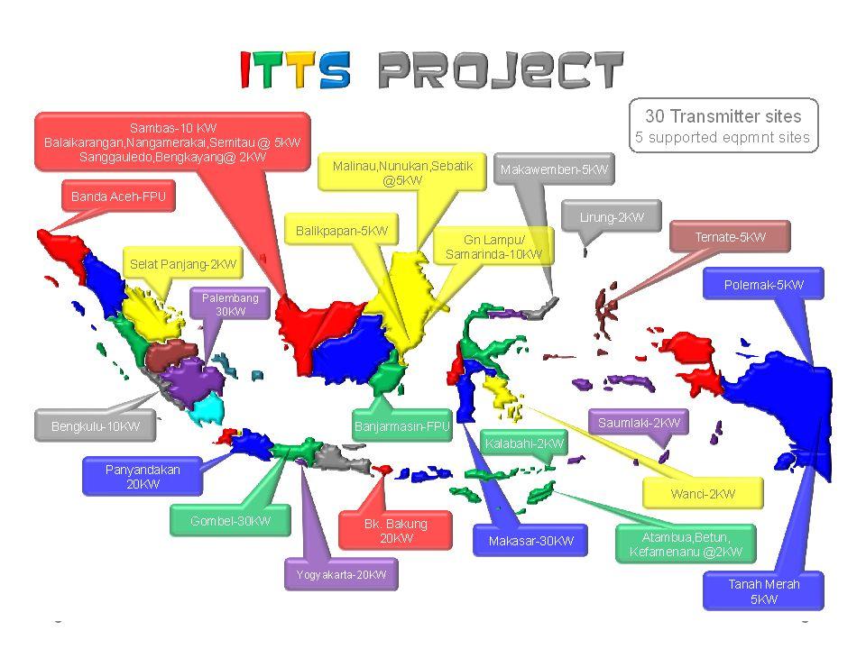 ITTS (Improvement on Television Transmitting Stations) bertujuan untuk merehabilitasi jaringan dan sistem pemancar sehingga wilayah jangkauan siaran dan tranmisi sinyal dapat berfungsi kembali dengan baik untuk mendukung program penyiaran nasional.