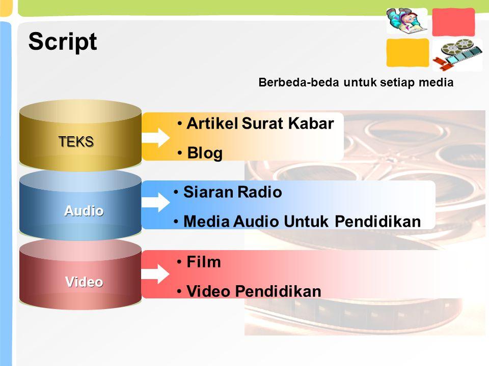 Script Artikel Surat Kabar Blog Siaran Radio