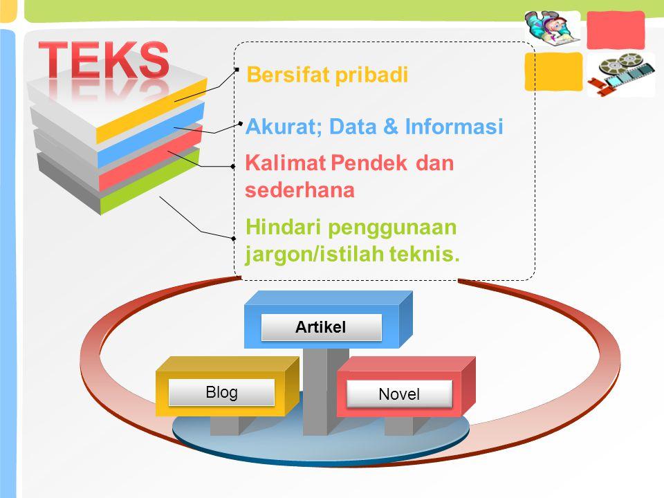TEKS Bersifat pribadi Akurat; Data & Informasi
