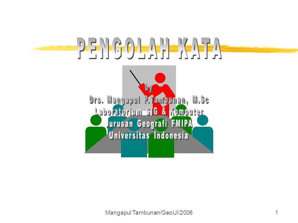 PENGOLAH KATA by Drs. Mangapul P.Tambunan, M.Sc