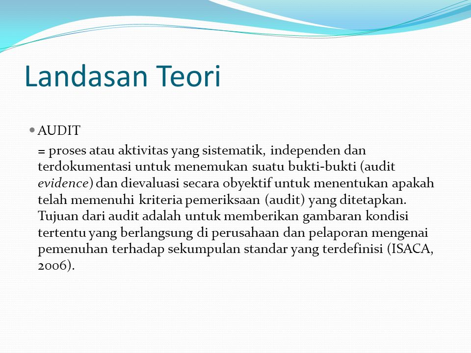 Landasan Teori AUDIT.