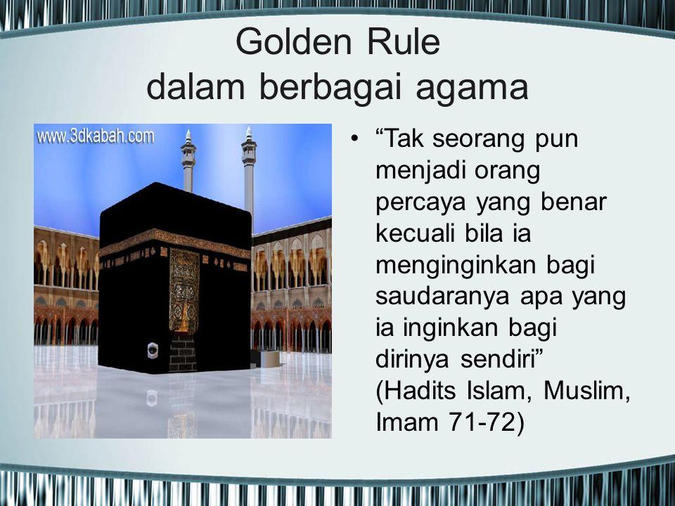 Golden Rule dalam berbagai agama
