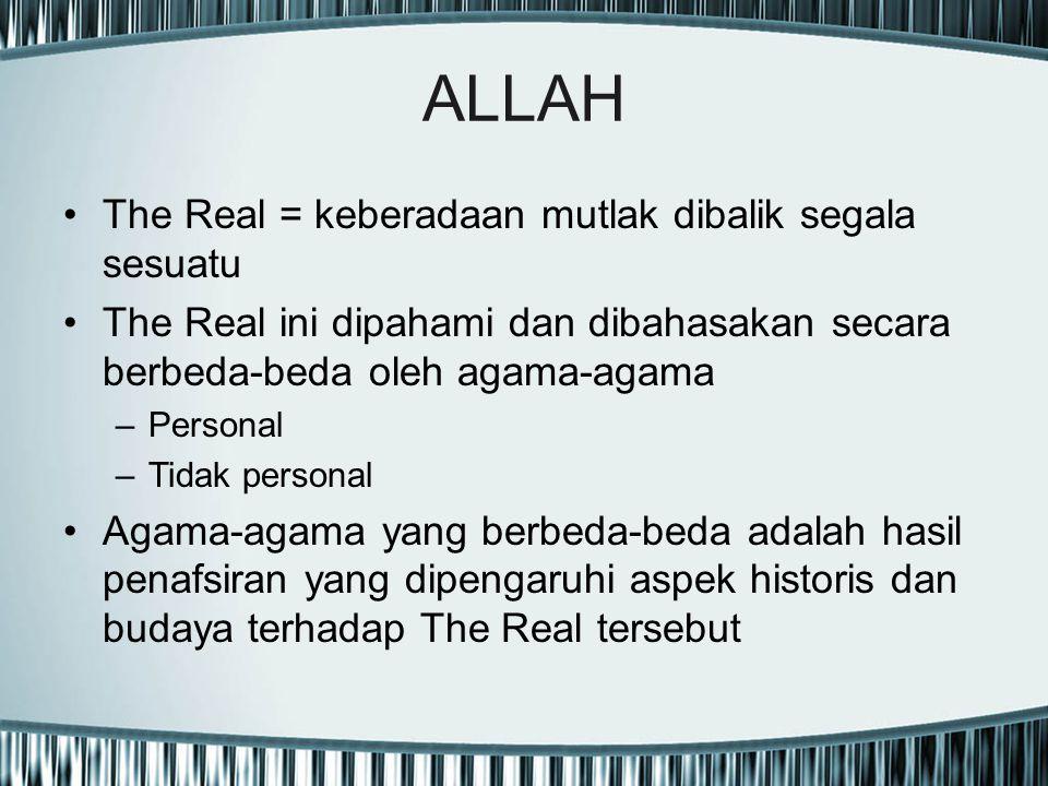 ALLAH The Real = keberadaan mutlak dibalik segala sesuatu
