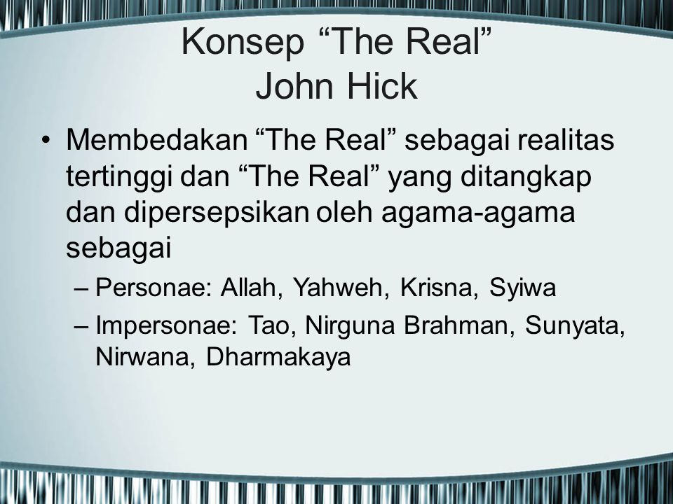 Konsep The Real John Hick