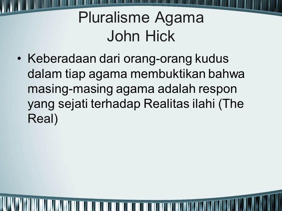 Pluralisme Agama John Hick