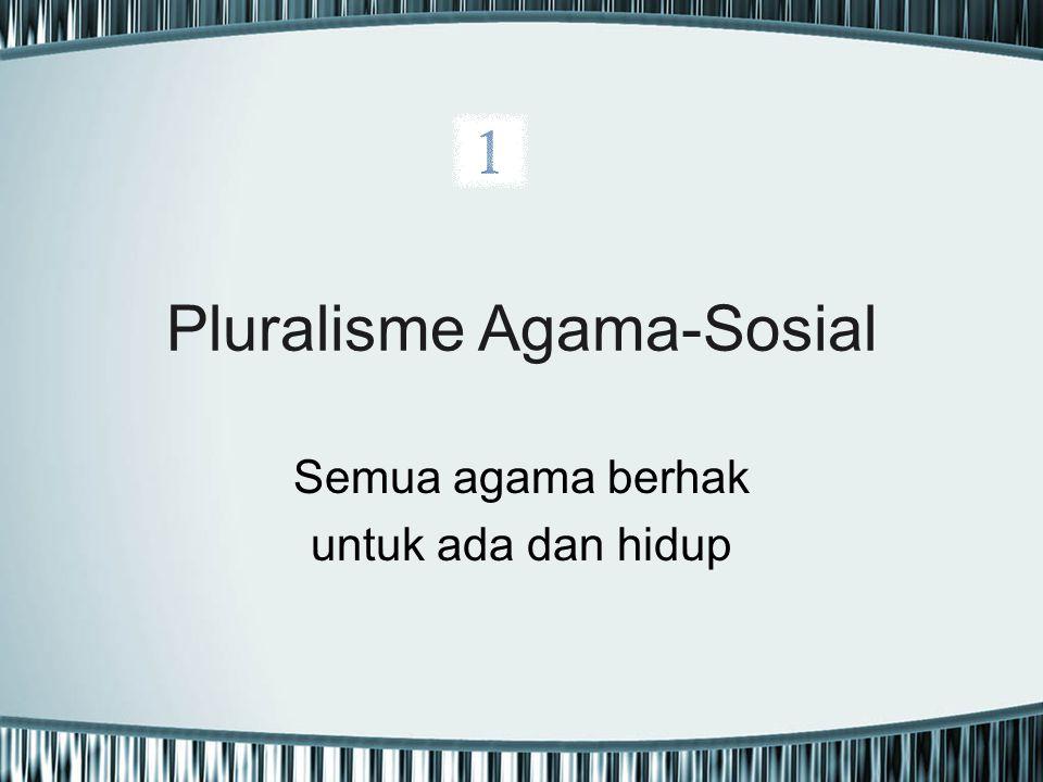 Pluralisme Agama-Sosial