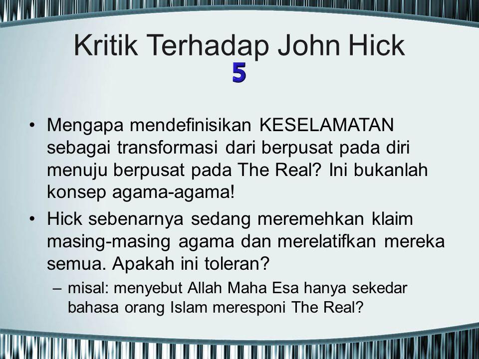 Kritik Terhadap John Hick