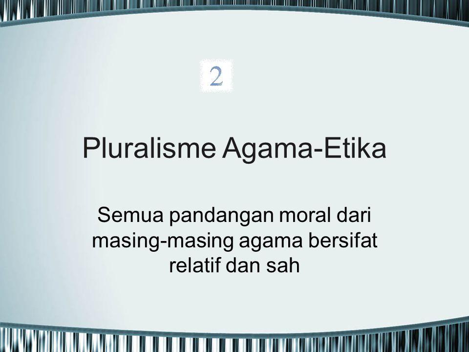 Pluralisme Agama-Etika