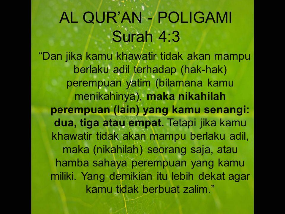 AL QUR'AN - POLIGAMI Surah 4:3