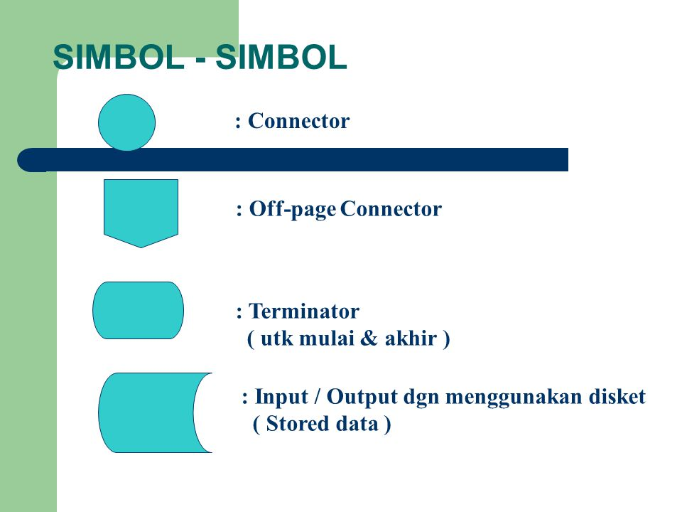 SIMBOL - SIMBOL : Connector : Off-page Connector : Terminator