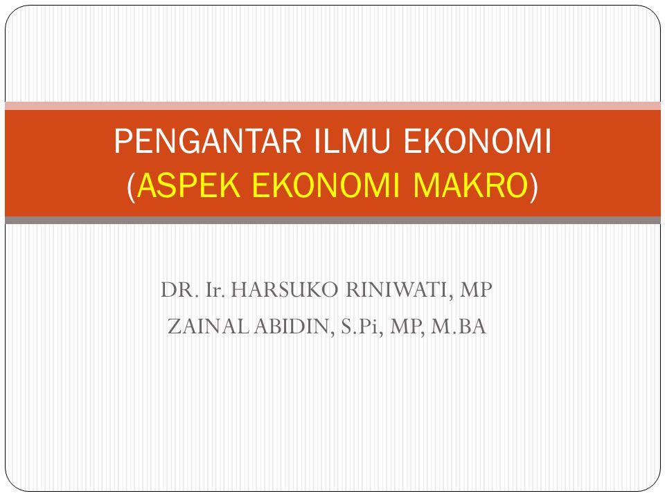PENGANTAR ILMU EKONOMI (ASPEK EKONOMI MAKRO)