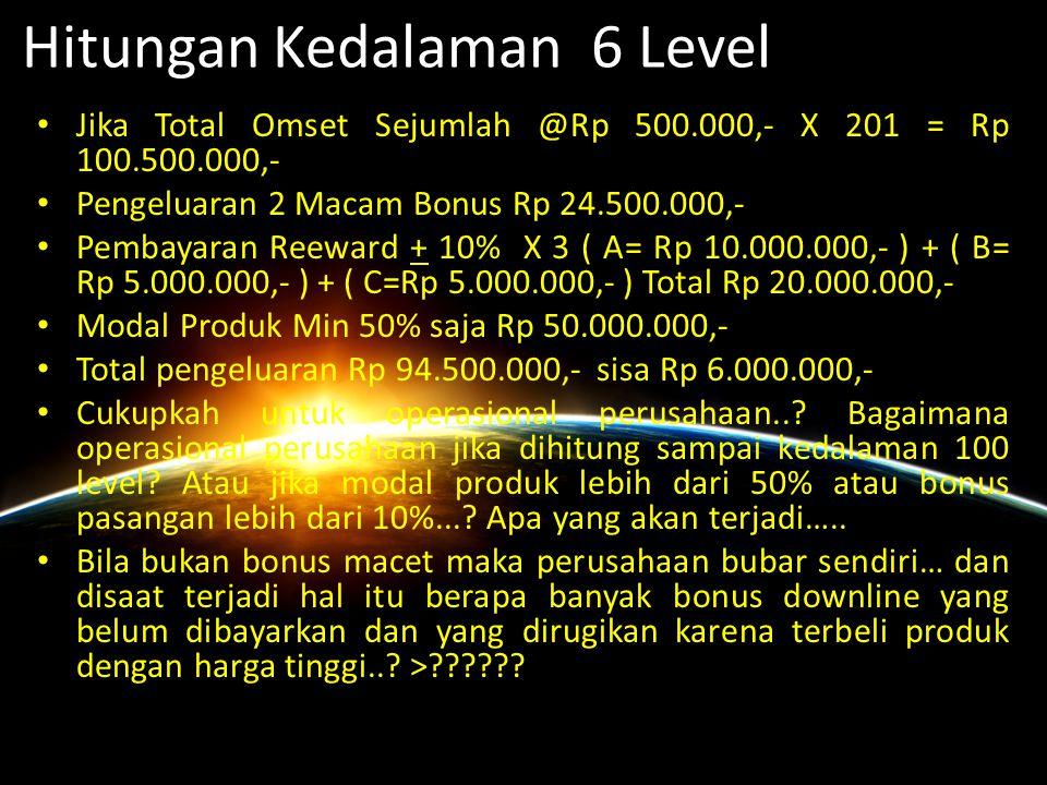 Hitungan Kedalaman 6 Level