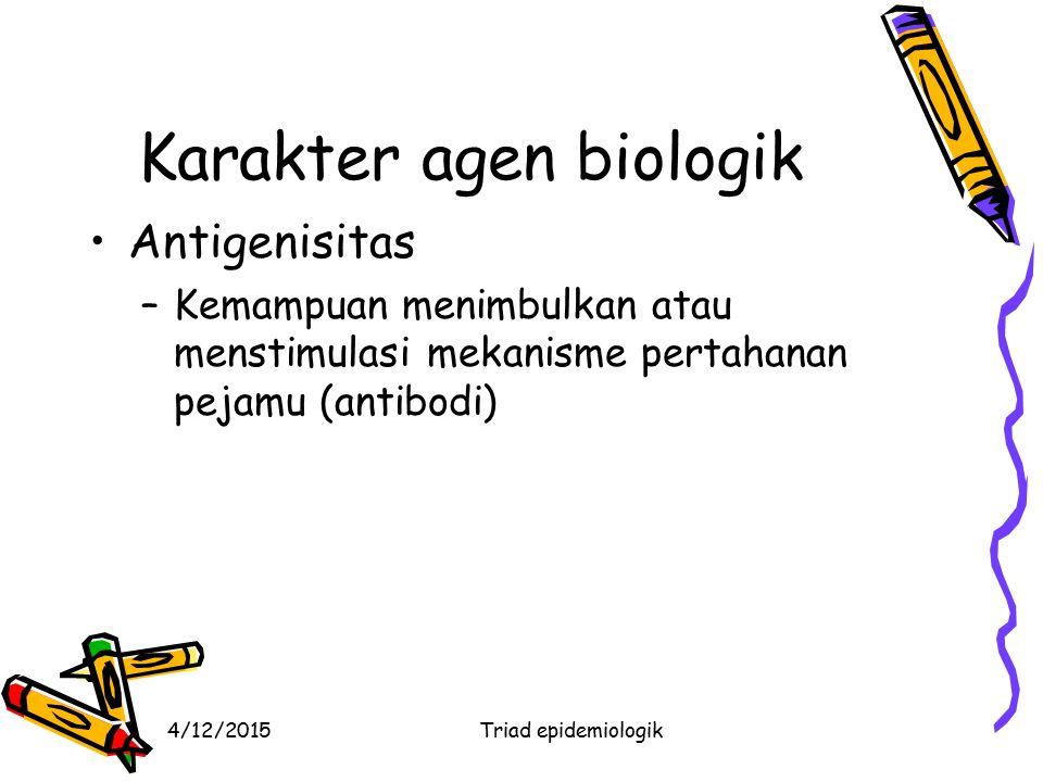Karakter agen biologik