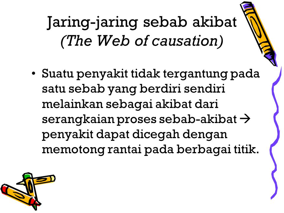 Jaring-jaring sebab akibat (The Web of causation)