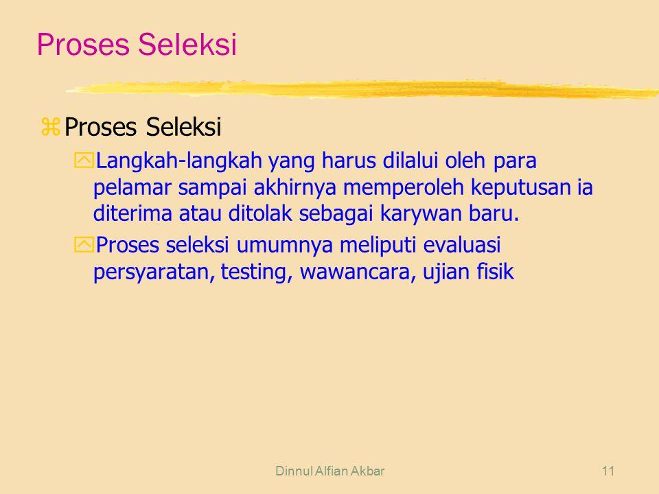 Proses Seleksi Proses Seleksi