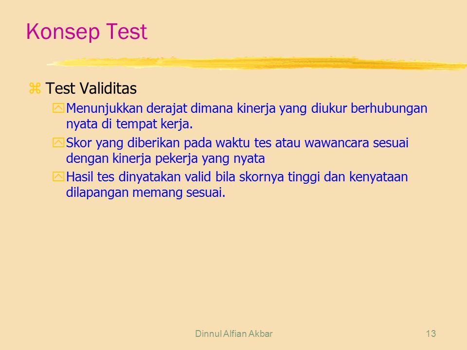 Konsep Test Test Validitas