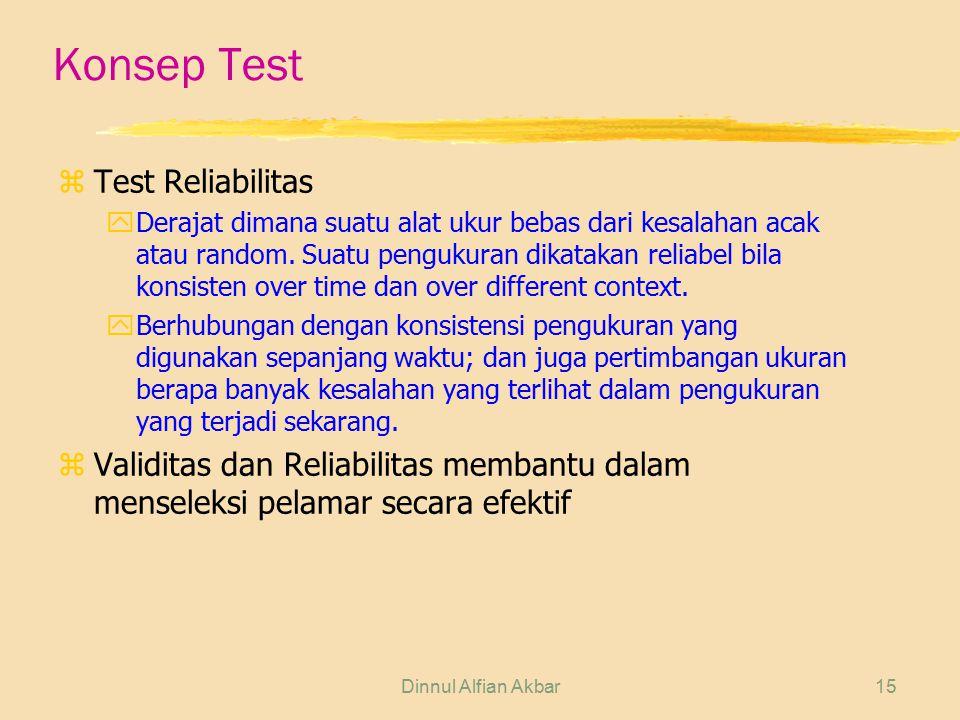 Konsep Test Test Reliabilitas