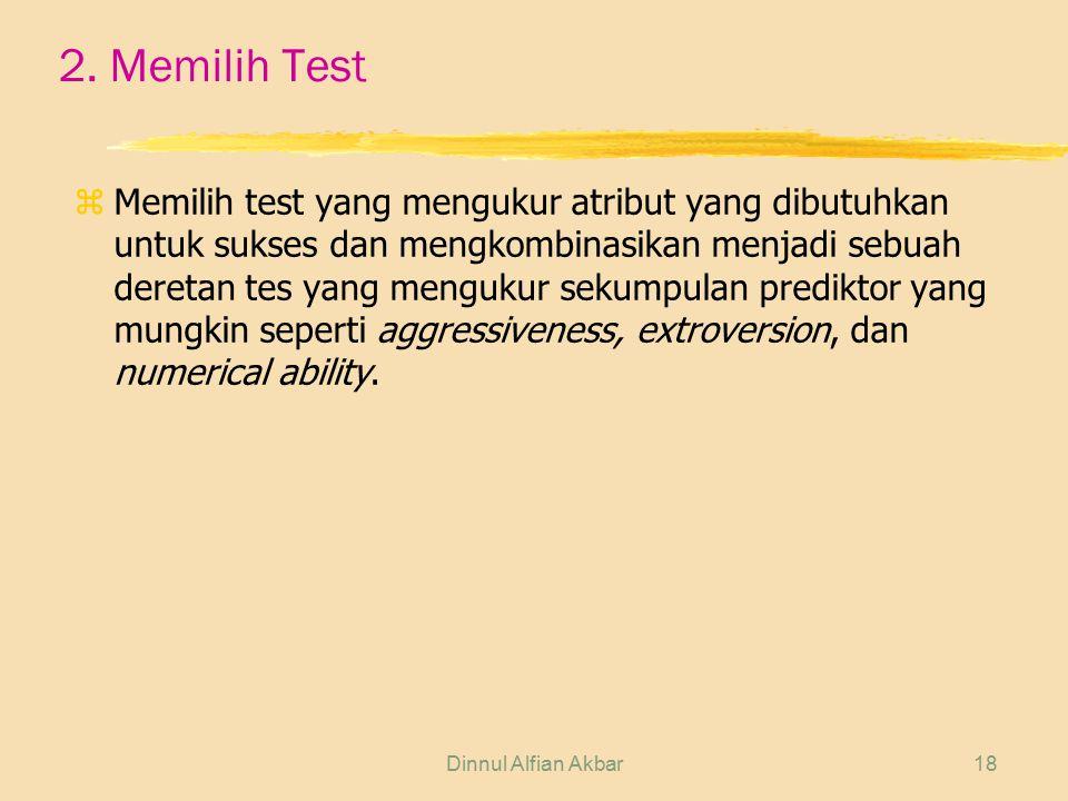 2. Memilih Test