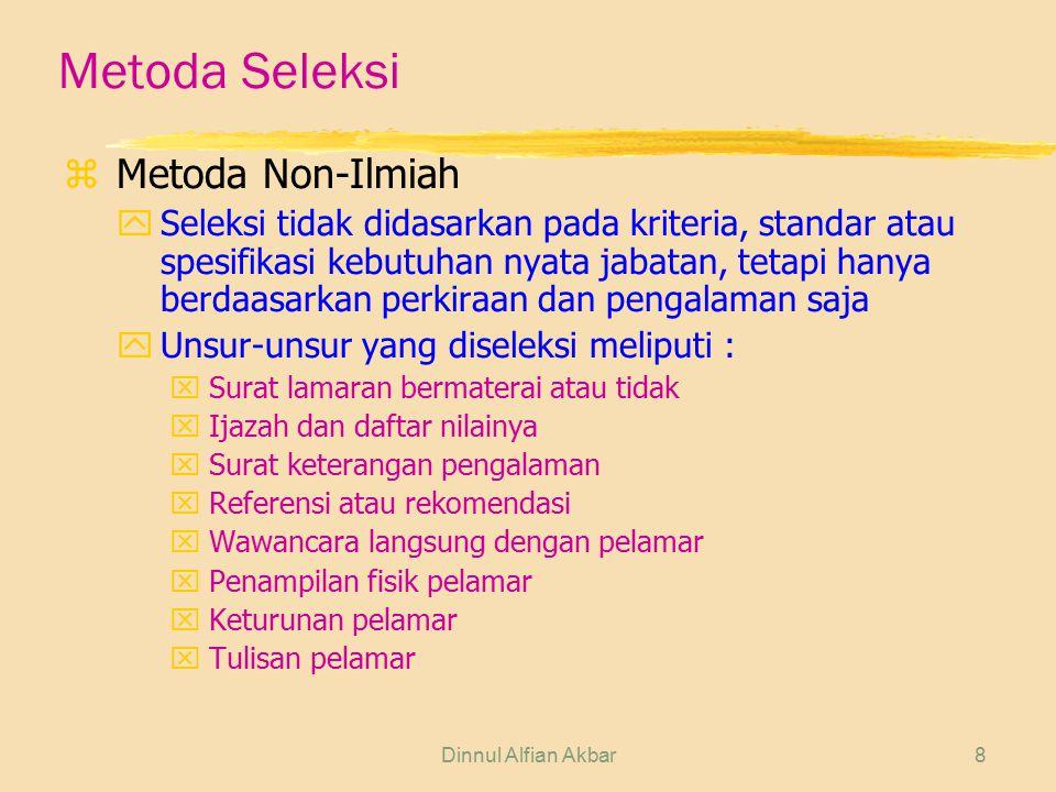 Metoda Seleksi Metoda Non-Ilmiah