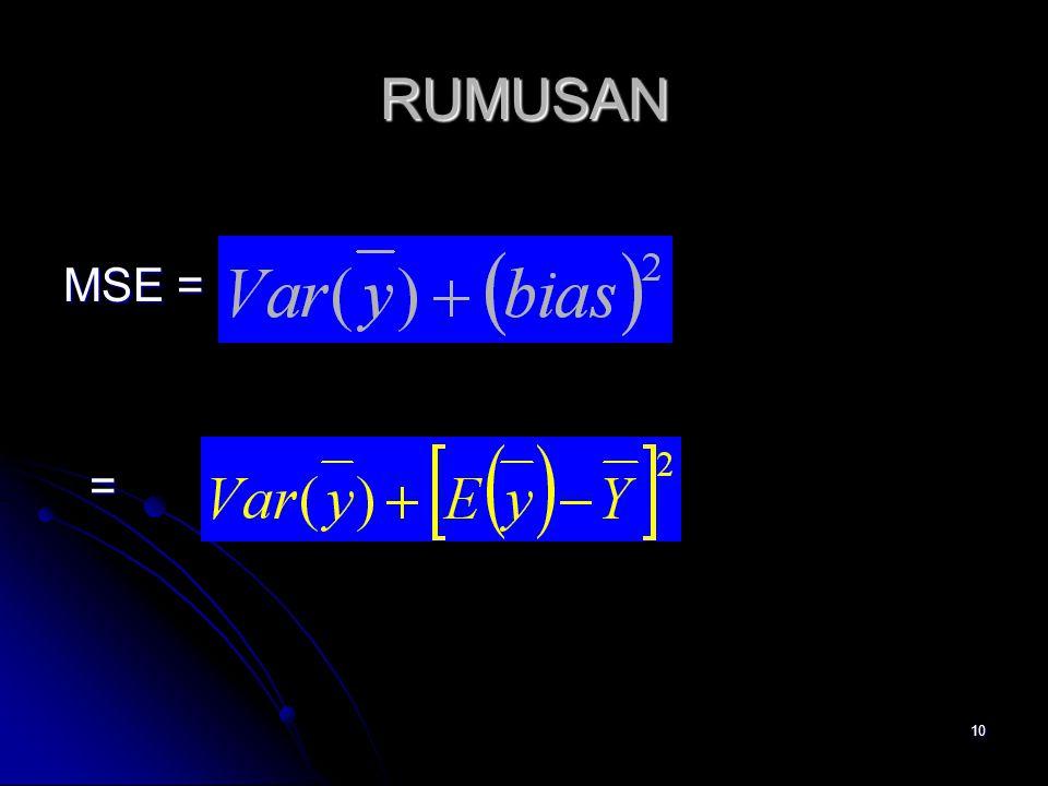 RUMUSAN MSE = =