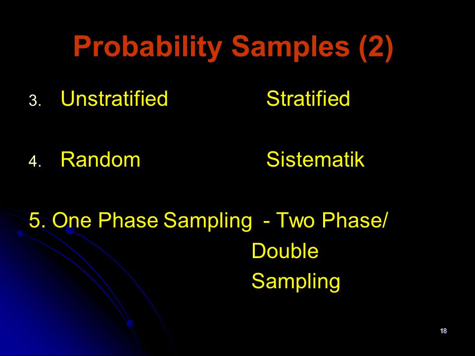 Probability Samples (2)