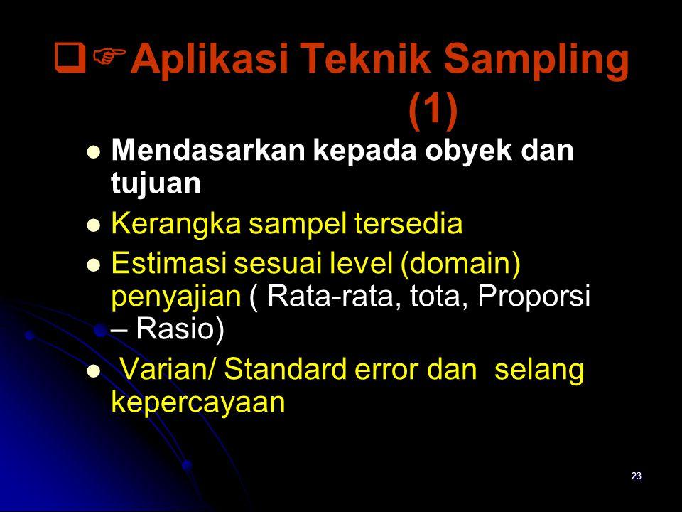 Aplikasi Teknik Sampling (1)