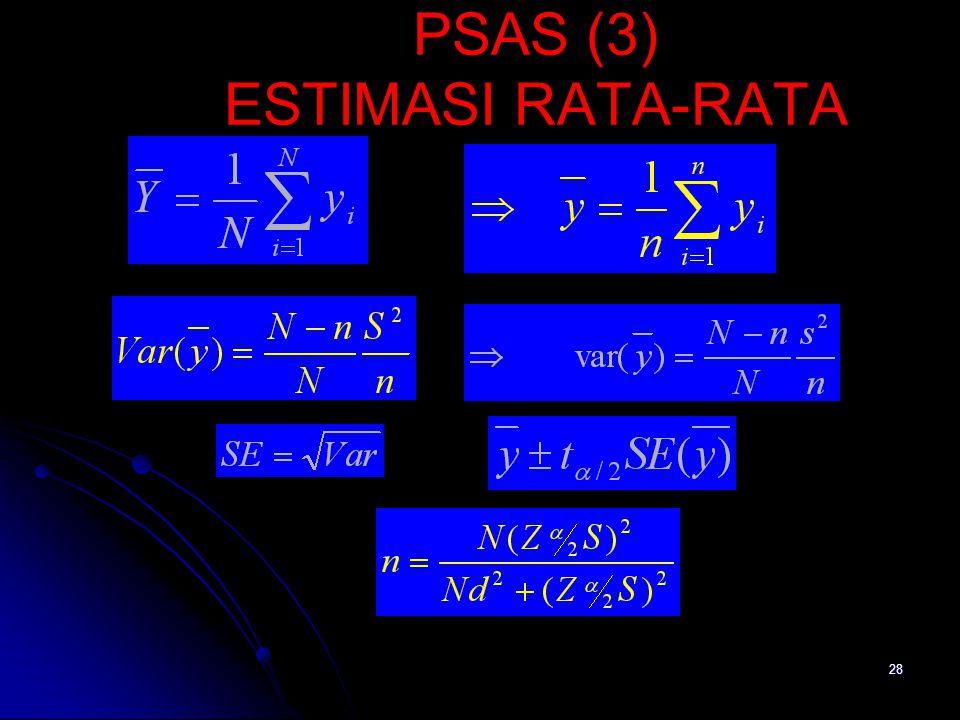 PSAS (3) ESTIMASI RATA-RATA