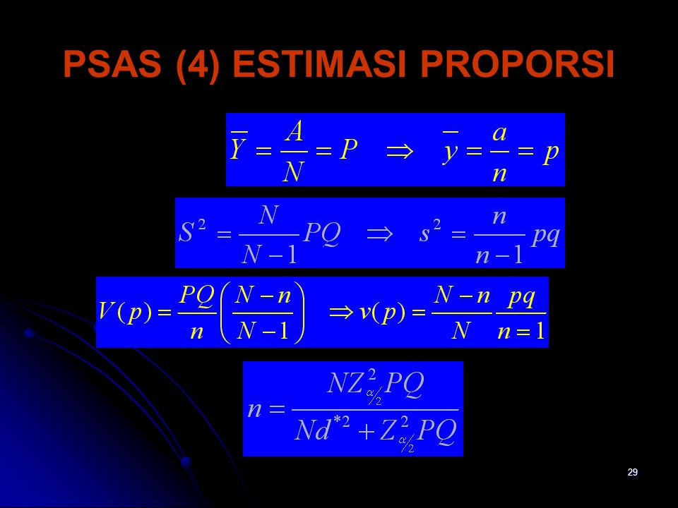 PSAS (4) ESTIMASI PROPORSI