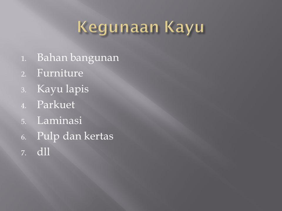 Kegunaan Kayu Bahan bangunan Furniture Kayu lapis Parkuet Laminasi