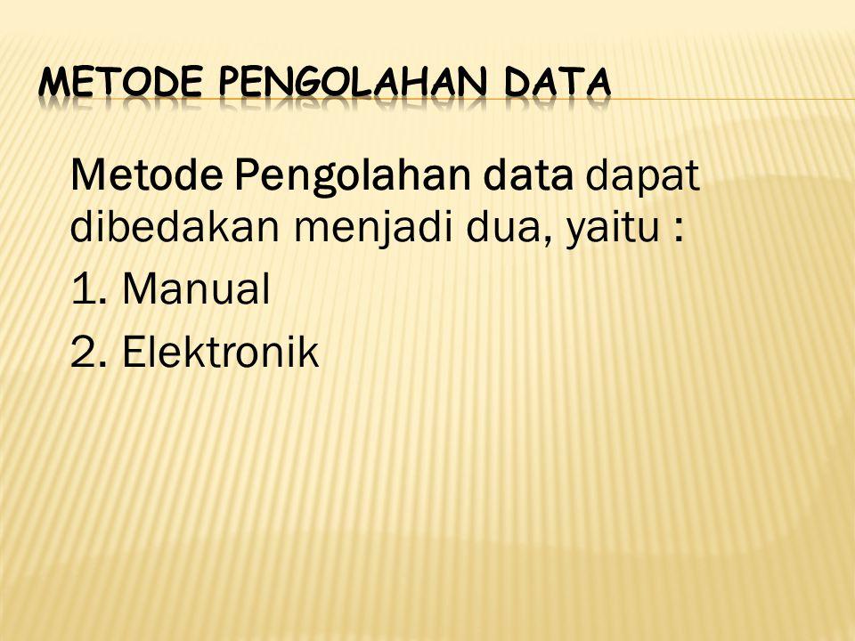 Metode Pengolahan Data