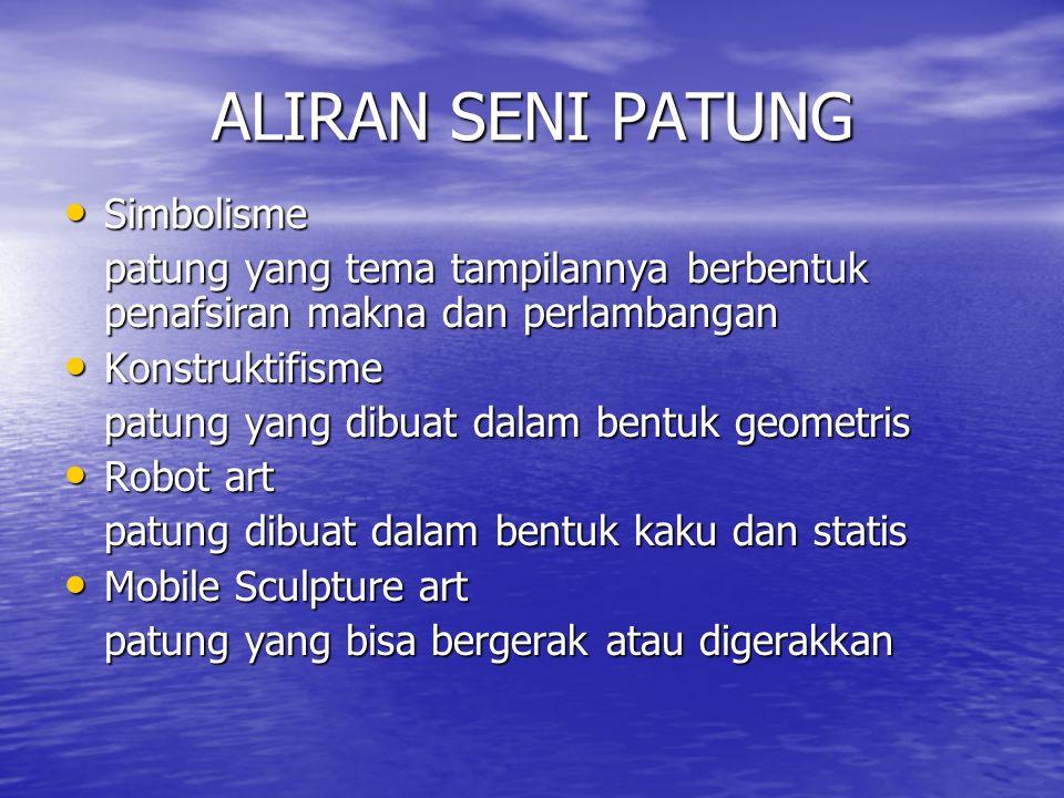 ALIRAN SENI PATUNG Simbolisme