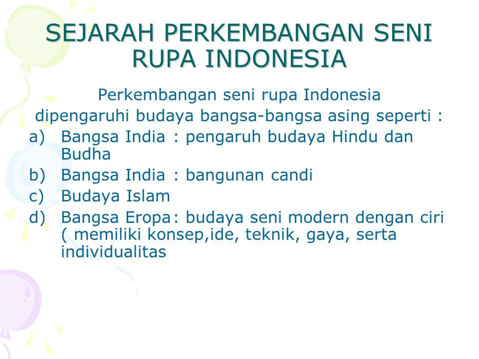 SEJARAH PERKEMBANGAN SENI RUPA INDONESIA