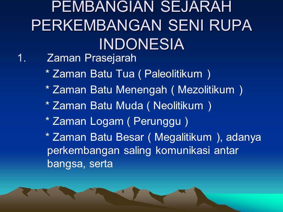 PEMBANGIAN SEJARAH PERKEMBANGAN SENI RUPA INDONESIA
