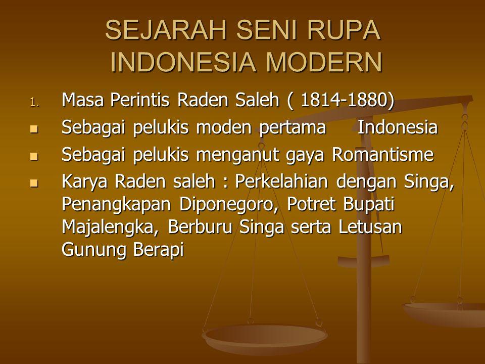 SEJARAH SENI RUPA INDONESIA MODERN